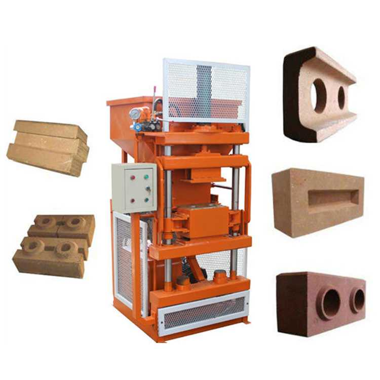 Interlocking brick machine